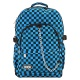 Black & Blue Checked Backpack