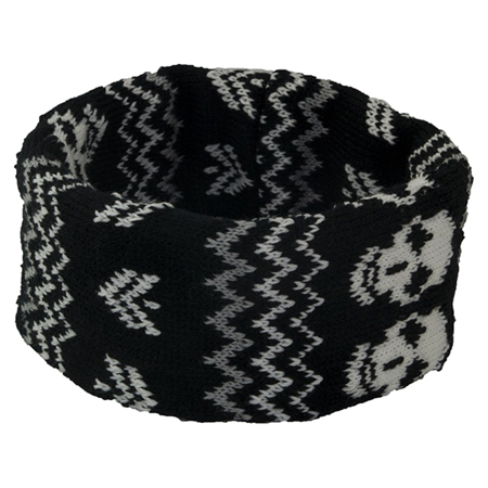 Accent Black Skull Headband