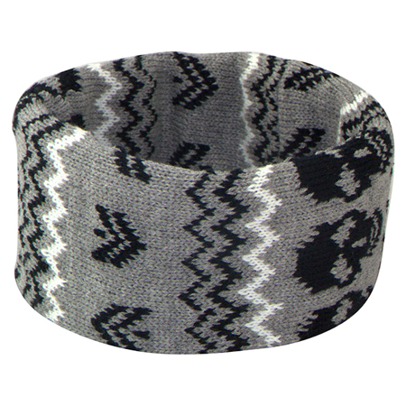 Accent Grey Skull Headband