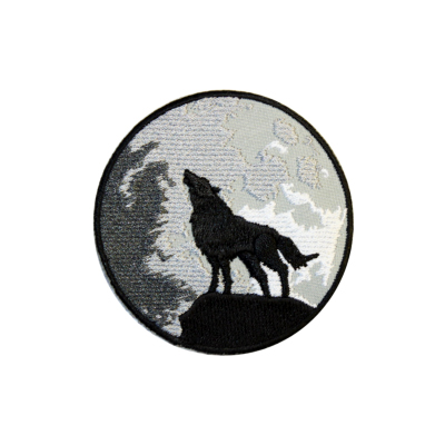 Howling Wolf Iron-On Patch