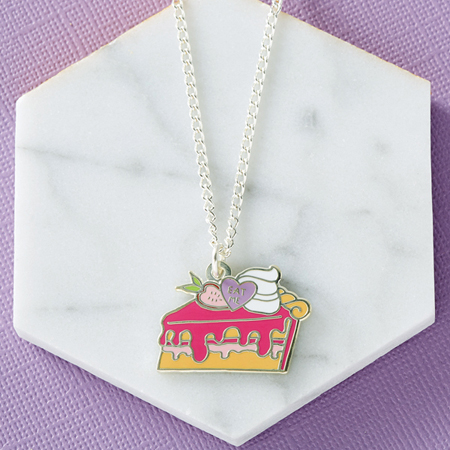 Punky Pins Alice 'Eat Me' Enamel Necklace