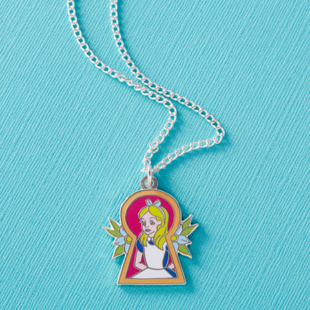 Punky Pins Alice 'Keyhole' Enamel Necklace