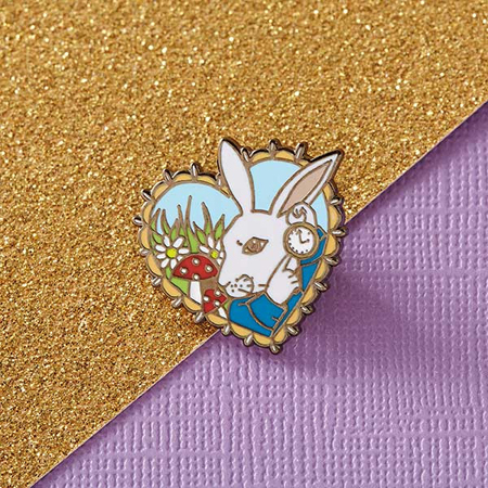 Punky Pins Alice 'White Rabbit' Enamel Pin
