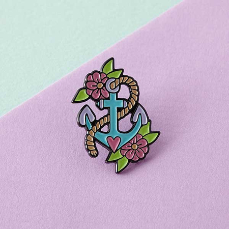 Punky Pins Anchor Enamel Pin