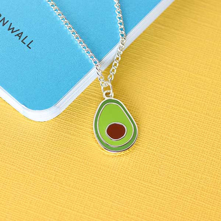 Punky Pins Avocado Enamel Necklace