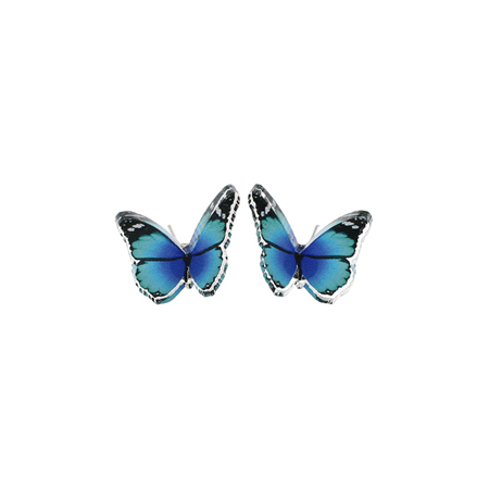 Punky Pins Blue Butterfly Stud Earrings