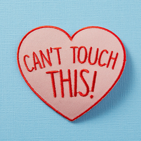 Punky Pins Can't Touch This Heart Embroidered Iron-On Patch