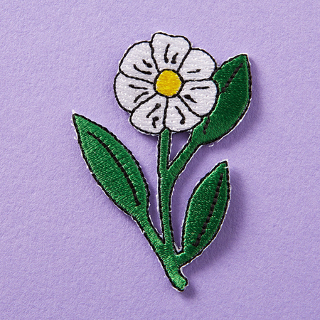 Punky Pins Daisy Embroidered Iron-On Patch