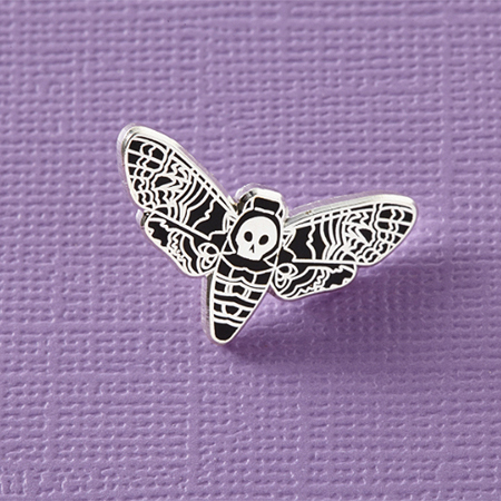 Punky Pins Death Head Moth Enamel Pin