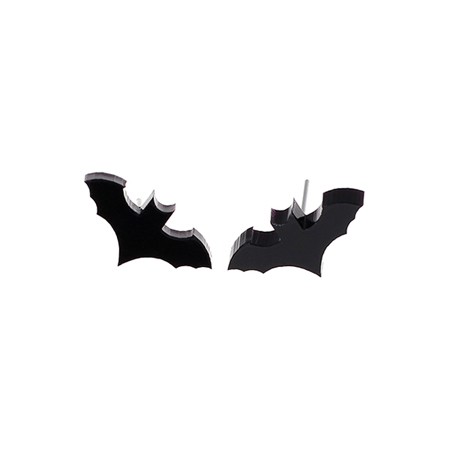 Punky Pins Flying Bat Stud Earrings