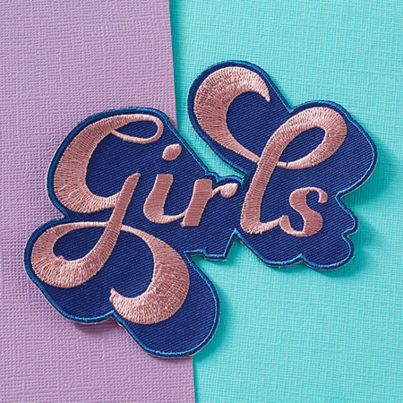 Punky Pins Girls Embroidered Iron-On Patch