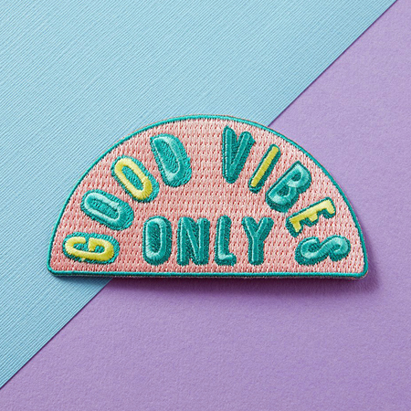 Punky Pins Good Vibes Only Embroidered Iron-On Patch