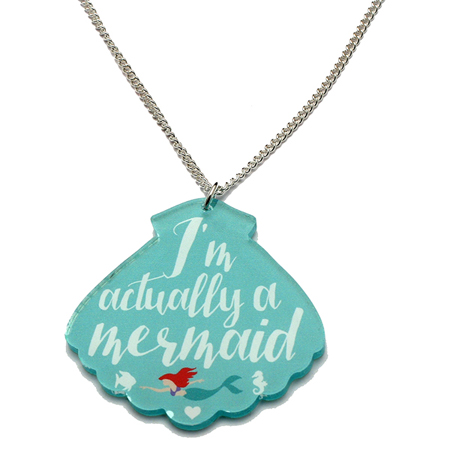 Punky Pins 'I'm Actually a Mermaid' Acrylic Necklace