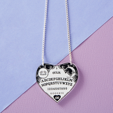 Punky Pins Ouija Heart Acrylic Necklace