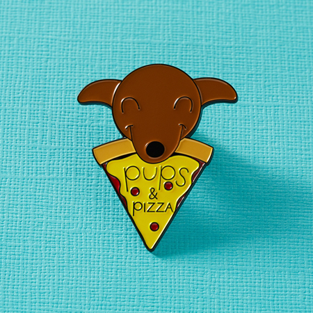 Punky Pins Pups & Pizza Enamel Pin