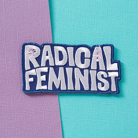 Punky Pins Radical Feminist Embroidered Iron-On Patch