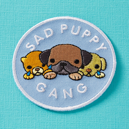 Punky Pins Sad Puppy Club Embroidered Iron-On Patch