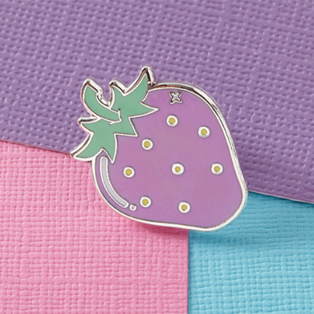 Punky Pins Strawberry Enamel Pin