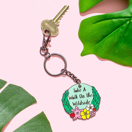 Punky Pins Take A Walk On The Wildside Keyring