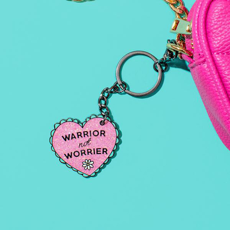 Punky Pins Warrior Not Worrier Enamel Keyring