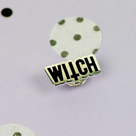 Punky Pins Witch Enamel Pin