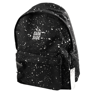 Darkside Black with Silver Splatter Backpack