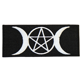 Extreme Largeness Pentagram & Moons Iron-On Patch