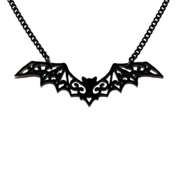 Filigree Bat Acrylic Necklace