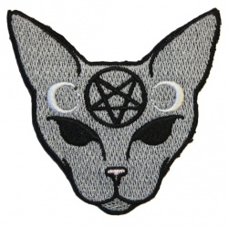 Gothic Cat Iron-On Patch