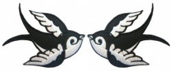 Pair of Swallows Iron-On Patch