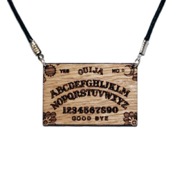 Ouija Board Wooden Necklace