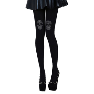 Pamela Mann Diamante Skull Tights