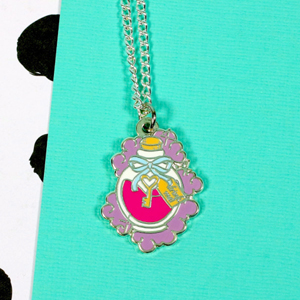 Punky Pins Alice 'Drink Me' Enamel Necklace