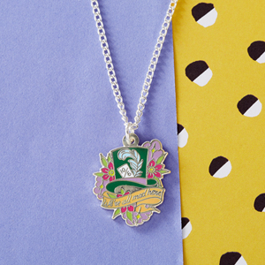 Punky Pins Alice 'Mad Hatter' Enamel Necklace