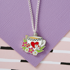 Punky Pins Alice 'Tea' Enamel Necklace