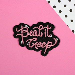 Punky Pins Beat It Creep Iron-On Patch