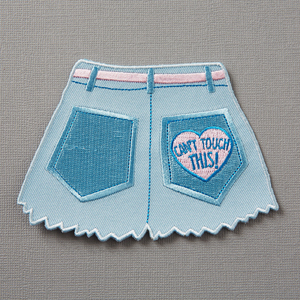 Punky Pins Can't Touch This Hot Pants Embroidered Iron-On Patch