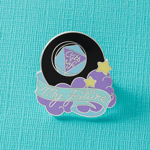 Punky Pins Cats & WiFi Fortune Ball Enamel Pin