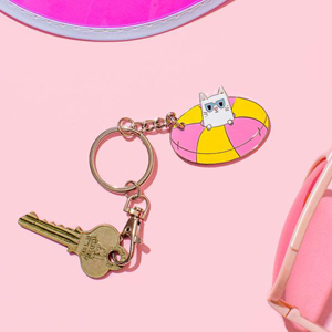 Punky Pins Cool Kitty Enamel Keyring