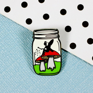 Punky Pins Fairy in a Bottle Enamel Pin