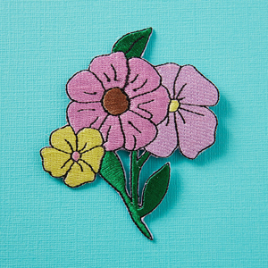 Punky Pins Florals Embroidered Iron-On Patch