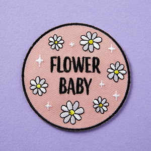 Punky Pins Flower Baby Embroidered Iron-On Patch