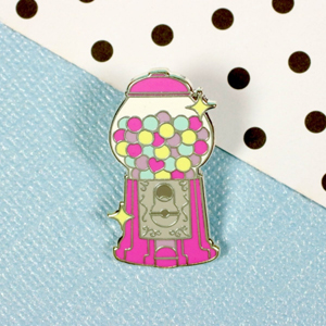 Punky Pins Gumball Machine Enamel Pin