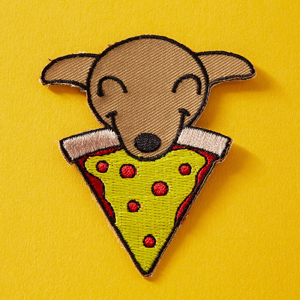 Punky Pins Pups & Pizza Embroidered Iron-On Patch