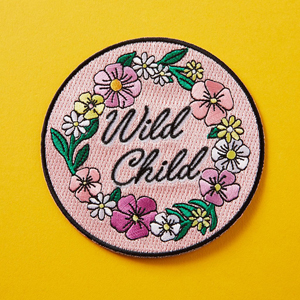 Punky Pins Wild Child Embroidered Iron-On Patch