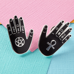 Punky Pins Yes & No Hand Enamel Pin Set