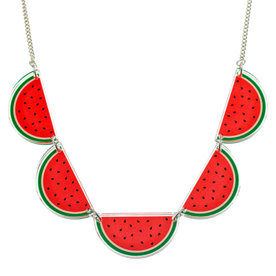 Tropical Watermelon Acrylic Necklace