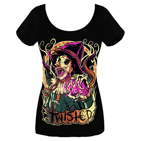 Twisted Scarecrow Scoop Neck T-Shirt